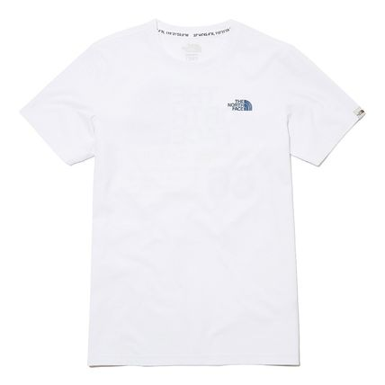 THE NORTH FACE More T-Shirts Unisex Street Style Plain Cotton Logo Outdoor T-Shirts 15