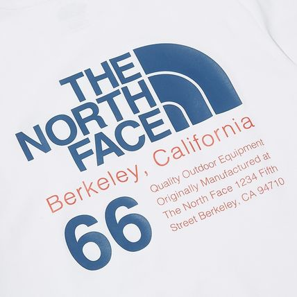 THE NORTH FACE More T-Shirts Unisex Street Style Plain Cotton Logo Outdoor T-Shirts 17
