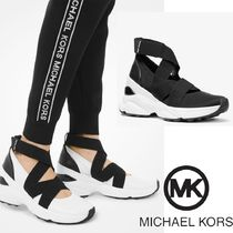 Michael Kors Rubber Sole Casual Style Plain Logo Low-Top Sneakers