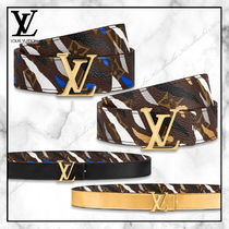 Louis Vuitton MONOGRAM Camouflage Casual Style Plain Leather Elegant Style Belts