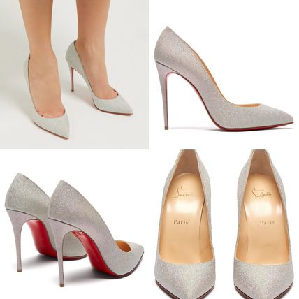 Christian Louboutin Pigalle Follies Plain Leather Pin Heels Handmade Party Style Elegant Style