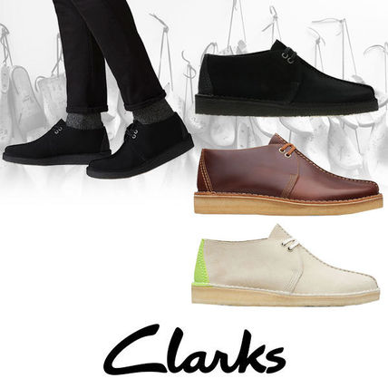 Suede Street Style Plain Leather Oxfords