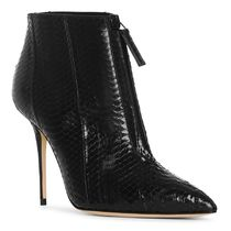 Manolo Blahnik Leather Pin Heels Python Ankle & Booties Boots