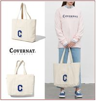COVERNAT Casual Style Unisex Canvas Street Style A4 Totes