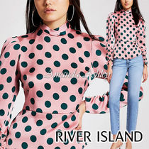 River Island Dots Long Sleeves Party Style Shirts & Blouses