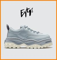 Eytys Rubber Sole Lace-up Casual Style Plain Leather
