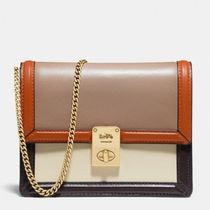 Coach Casual Style Suede Blended Fabrics 2WAY 3WAY Bi-color Chain