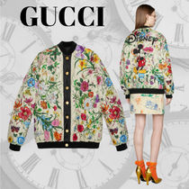 GUCCI Casual Style Unisex Collaboration Varsity Jackets