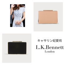 LKBennett Plain Leather Party Style Formal Style  Clutches