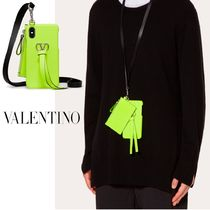 VALENTINO VRING Unisex Street Style iPhone X iPhone XS Logo Neon Color