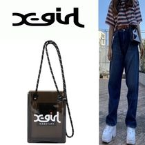 X-girl Casual Style Unisex Blended Fabrics Street Style