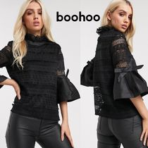 boohoo Casual Style Cropped Shirts & Blouses