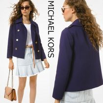Michael Kors Short Casual Style Plain Office Style Peacoats
