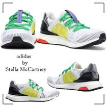 adidas by Stella McCartney Round Toe Rubber Sole Lace-up Casual Style Bi-color