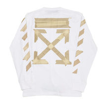Off-White Crew Neck Pullovers Street Style Long Sleeves Cotton