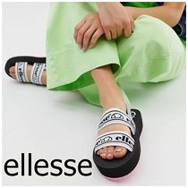 ellesse Open Toe Casual Style Street Style Plain Footbed Sandals