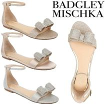 Badgley Mischka Open Toe Casual Style Plain Party Style With Jewels