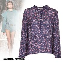 Isabel Marant Flower Patterns Casual Style Long Sleeves Cotton Medium