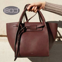 CELINE Big Bag Calfskin A4 Plain Totes