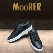 MOORER Plain Leather Sneakers