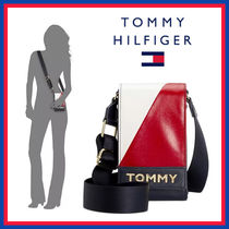 Tommy Hilfiger Casual Style Unisex Faux Fur Blended Fabrics Street Style