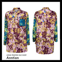 ANNTIAN Casual Style Unisex Silk Blended Fabrics Street Style