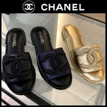 CHANEL SPORTS Open Toe Casual Style Plain Party Style Home Party Ideas