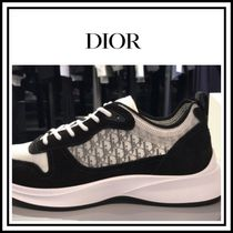 Christian Dior Unisex Suede Street Style Plain Leather Sneakers