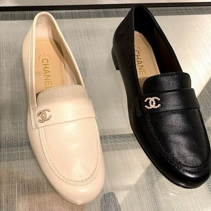 CHANEL Plain Toe Casual Style Plain Party Style Office Style