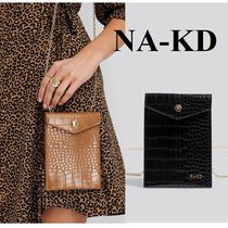NA-KD Casual Style Faux Fur 2WAY Chain Other Animal Patterns