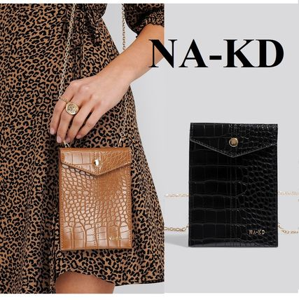 Casual Style Faux Fur 2WAY Chain Other Animal Patterns