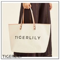 TIGERLILY Casual Style A4 Plain Office Style Elegant Style Totes