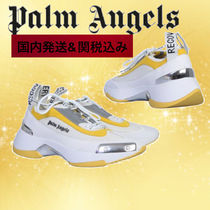 Palm Angels Unisex Suede Leather Sneakers