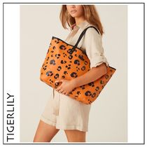 TIGERLILY Leopard Patterns Casual Style Canvas A4 Office Style