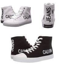 Calvin Klein Round Toe Rubber Sole Lace-up Casual Style Street Style