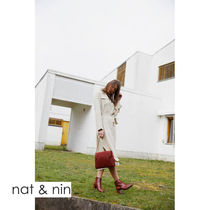 nat&nin 2WAY Leather Elegant Style Shoulder Bags