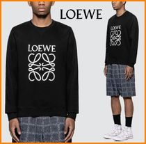 LOEWE Crew Neck Monogram Sweat Long Sleeves Cotton Sweatshirts
