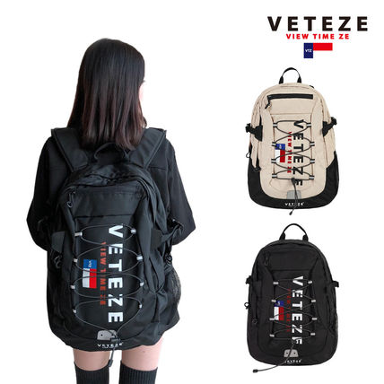 Nylon Plain Backpacks
