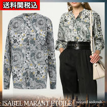 ISABEL MARANT ETOILE Flower Patterns Paisley Casual Style Long Sleeves Cotton