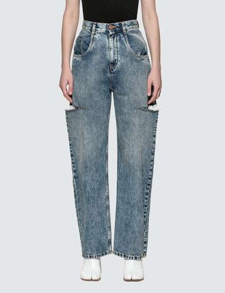 Maison Margiela More Jeans Denim Plain Logo Jeans