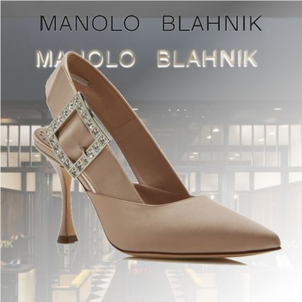 Casual Style Blended Fabrics Plain Pin Heels Party Style