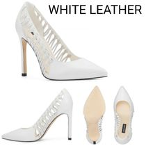Nine West Casual Style Plain Leather Pin Heels Party Style