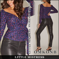 Little Mistress Leopard Patterns Casual Style Long Sleeves Medium