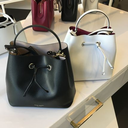 2WAY Plain Leather Crossbody Handbags