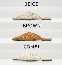 Casual Style Plain Slippers Mules Pointed Toe Shoes
