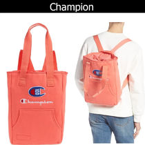 CHAMPION Casual Style Unisex Street Style 2WAY Plain Totes