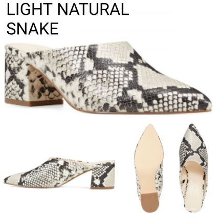 Leopard Patterns Casual Style Suede Plain Leather