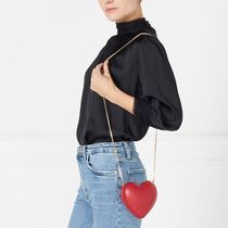 Lulu Guinness Shoulder Bags Casual Style 2WAY Chain Plain Leather Party Style 6
