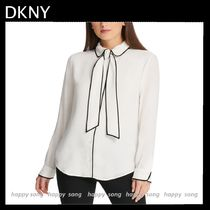 DKNY Casual Style Bi-color Long Sleeves Elegant Style