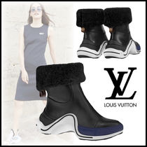 Louis Vuitton Casual Style Blended Fabrics Plain Leather Shearling